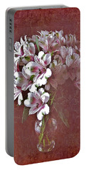 Lilies In Vase Portable Battery Charger by Diane Alexander