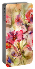 Lilies Portable Battery Charger by Neela Pushparaj