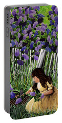 Lillian's Lilacs Portable Battery Charger by Jennifer Lake