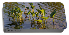 Lillies In Evening Glory Portable Battery Charger