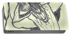 Portable Battery Charger featuring the drawing Lilly Artistic Doodling Drawing by Joseph Baril