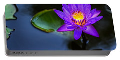 Portable Battery Charger featuring the photograph Lily Awakens by Dave Files