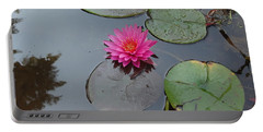 Lily Flower Portable Battery Charger by Michael Porchik