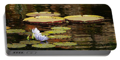 Lily Pad Portable Battery Charger by Kathy Churchman