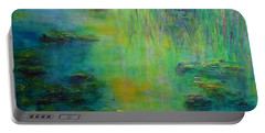 Lily Pond Tribute To Monet Portable Battery Charger