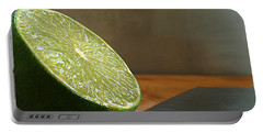 Portable Battery Charger featuring the photograph Lime Blade by Joe Schofield