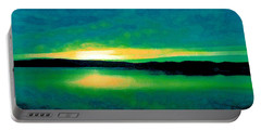 Lime Sunset Portable Battery Charger