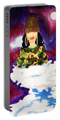 Portable Battery Charger featuring the painting Limitless by Aliya Michelle