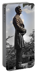Lincoln At Lytle Park Portable Battery Charger by Kathy Barney