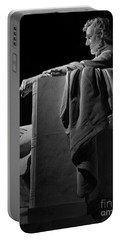 Lincoln In Black And White Portable Battery Charger
