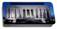 Lincoln Memorial At Dusk, Washington Portable Battery Charger by Panoramic Images