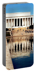 Portable Battery Charger featuring the photograph Lincoln Memorial by Daniel Thompson