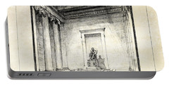 Lincoln Memorial Sketch IIi Portable Battery Charger