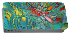 Lines And Circles -p07c08 Portable Battery Charger by Variance Collections
