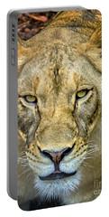 Lion Closeup Portable Battery Charger