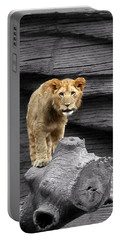 Lion Cub Portable Battery Charger by Cathy Harper