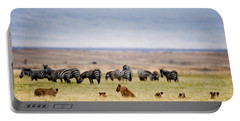 Lion Family Panthera Leo Looking Portable Battery Charger