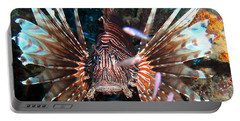 Portable Battery Charger featuring the photograph Lion Fish - En Garde by Amy McDaniel