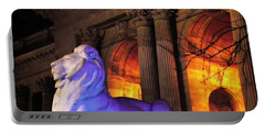 Lion Nyc Public Library Portable Battery Charger