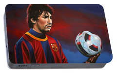 Lionel Messi 2 Portable Battery Charger by Paul Meijering