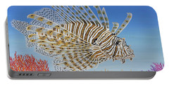 Lionfish And Coral Portable Battery Charger
