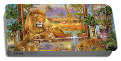 Lions Coming To Life Portable Battery Charger
