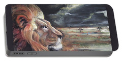 Lions Domain Portable Battery Charger by Peter Suhocke