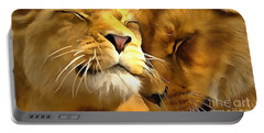 Lions In Love Portable Battery Charger