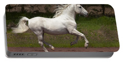 Lipizzan At Liberty Portable Battery Charger by Wes and Dotty Weber