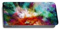 Portable Battery Charger featuring the digital art Liquid Colors - Enamel Edition by Lilia D