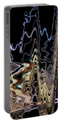 Portable Battery Charger featuring the photograph Liquid Metal II by Pennie  McCracken