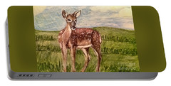 Portable Battery Charger featuring the painting Listening To The Creator's Voice by Kimberlee Baxter