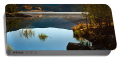 Portable Battery Charger featuring the photograph Lite Early Morning Mist by Steven Reed