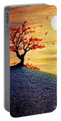 Little Autumn Tree Portable Battery Charger by Danielle R T Haney