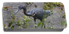 Portable Battery Charger featuring the photograph Little Blue Heron - Waiting For Prey by Christiane Schulze Art And Photography