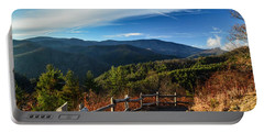 Portable Battery Charger featuring the photograph Little Cataloochee Overlook In Summer by Debbie Green
