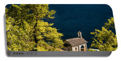 Little Chapel In Ticino With Beautiful Green Trees Portable Battery Charger