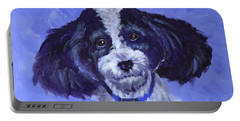 Little Dog Blue Portable Battery Charger