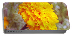 Portable Battery Charger featuring the photograph Little Golden  Marigold by Kay Novy