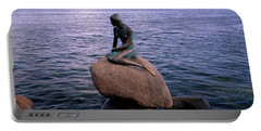 Little Mermaid Statue On Waterfront Portable Battery Charger