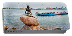 Little Mermaid Statue With Tourboat Portable Battery Charger