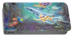Little Mermaids And Dolphin Portable Battery Charger