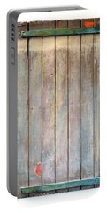 Little Painted Gate In Summer Colors  Portable Battery Charger by Asha Carolyn Young