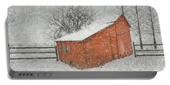 Little Red Barn Portable Battery Charger