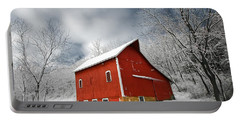 Portable Battery Charger featuring the photograph Little Red Barn by Todd Klassy