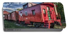 Little Red Caboose Portable Battery Charger by Guy Whiteley