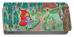 Little Red Riding Hood With Grandma's House On Mailbox Portable Battery Charger