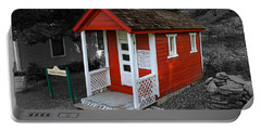 Little Red School House Portable Battery Charger by Richard J Cassato