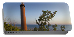 Little Sable Lighthouse By The Shore Portable Battery Charger
