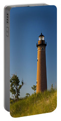 Little Sable Lighthouse On The Dune By Silver Lake Michigan No.560 Portable Battery Charger